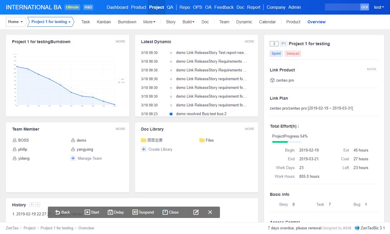 Open Source Project Management Software-Scrum Tool - ZenTao
